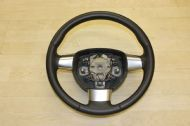 GENUINE FORD FOCUS LEATHER CHROME STEERING WHEEL 3 SPOKE PRISTINE 2008-2012